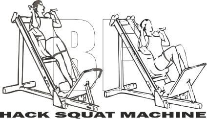 Hack Squat -Bacak Hareketi - Leg Exercise