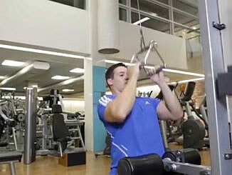 Halatla Yukarıdan V-Bar Çekiş  - Close Grip Lat Pulldowns