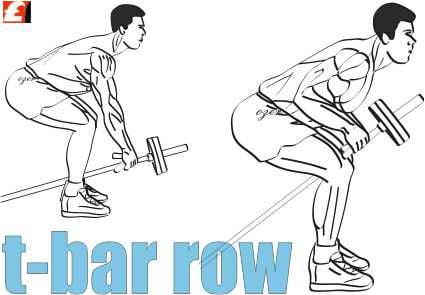 T Bar Rows - Sırt kası geliştirme hareketi