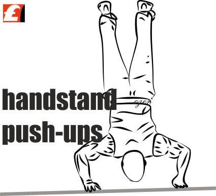 hand stand push-ups
