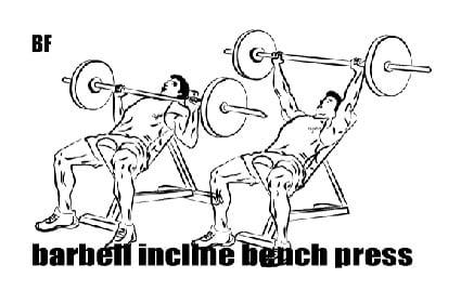 Üst Göğüs hareketi - Barbell Incline Chest Press