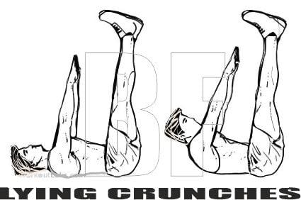 Lying Crunch Nasıl Yapılır? - Nereyi Çalıştırır?